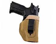 Suede IWB Open Top Holster W Steel Clip, It.85V