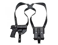 Shoulder Holster W. Double Magazine In Leather, It.42/22